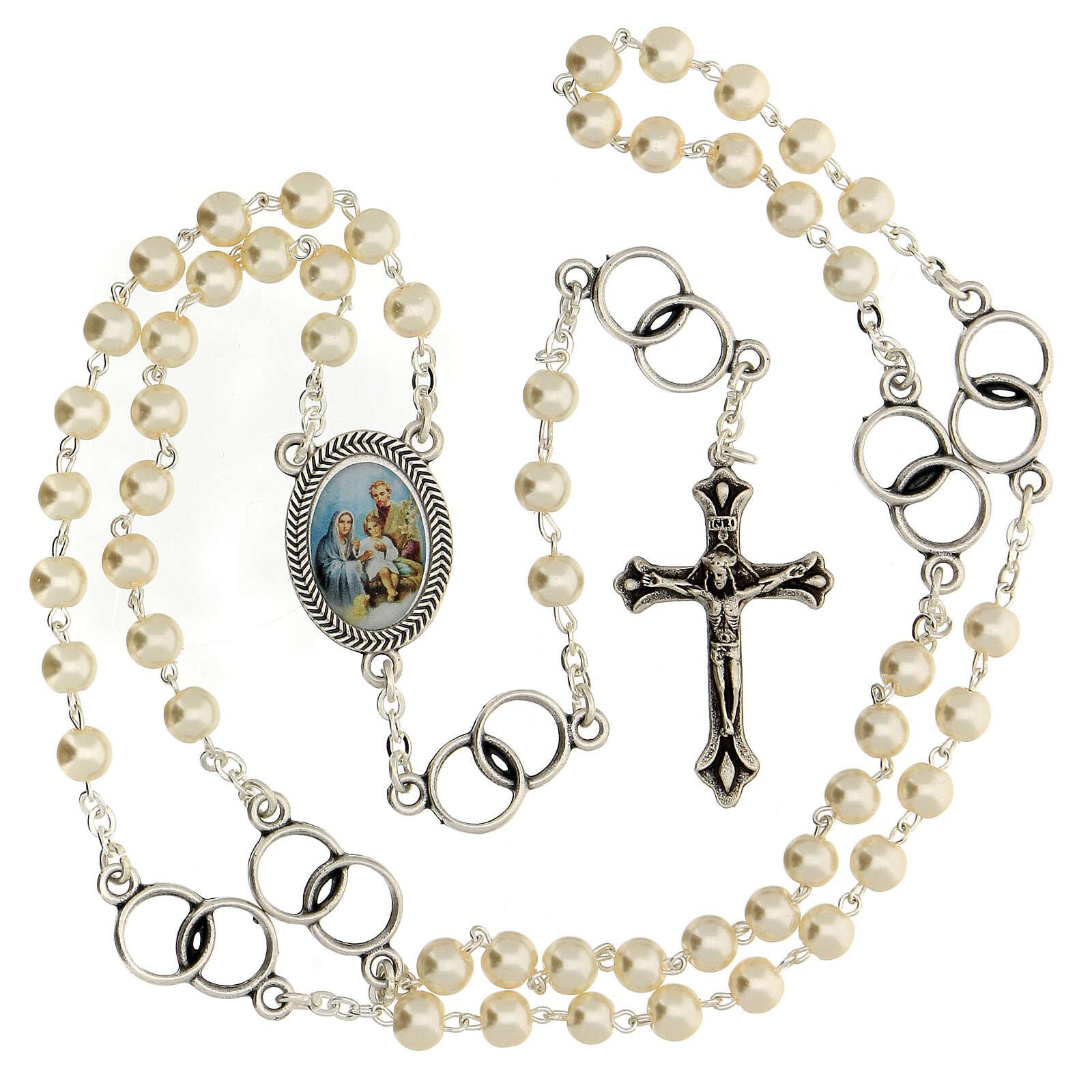 Recuerdo boda rosario plateado y alianzas 3