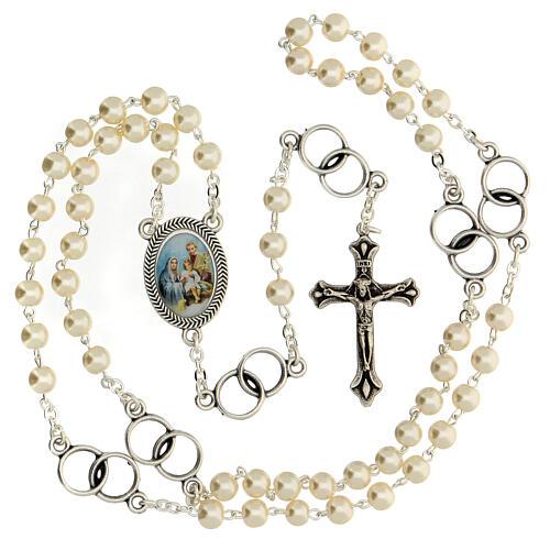 Recuerdo boda rosario plateado y alianzas 2