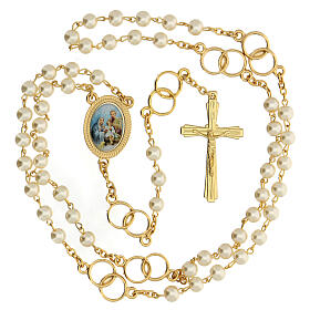 Recuerdo boda rosario con alianzas dorado s2