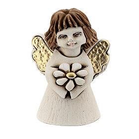 Ange résine ailes dorées coeur 5 cm s1