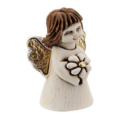 Ange résine ailes dorées coeur 5 cm 3