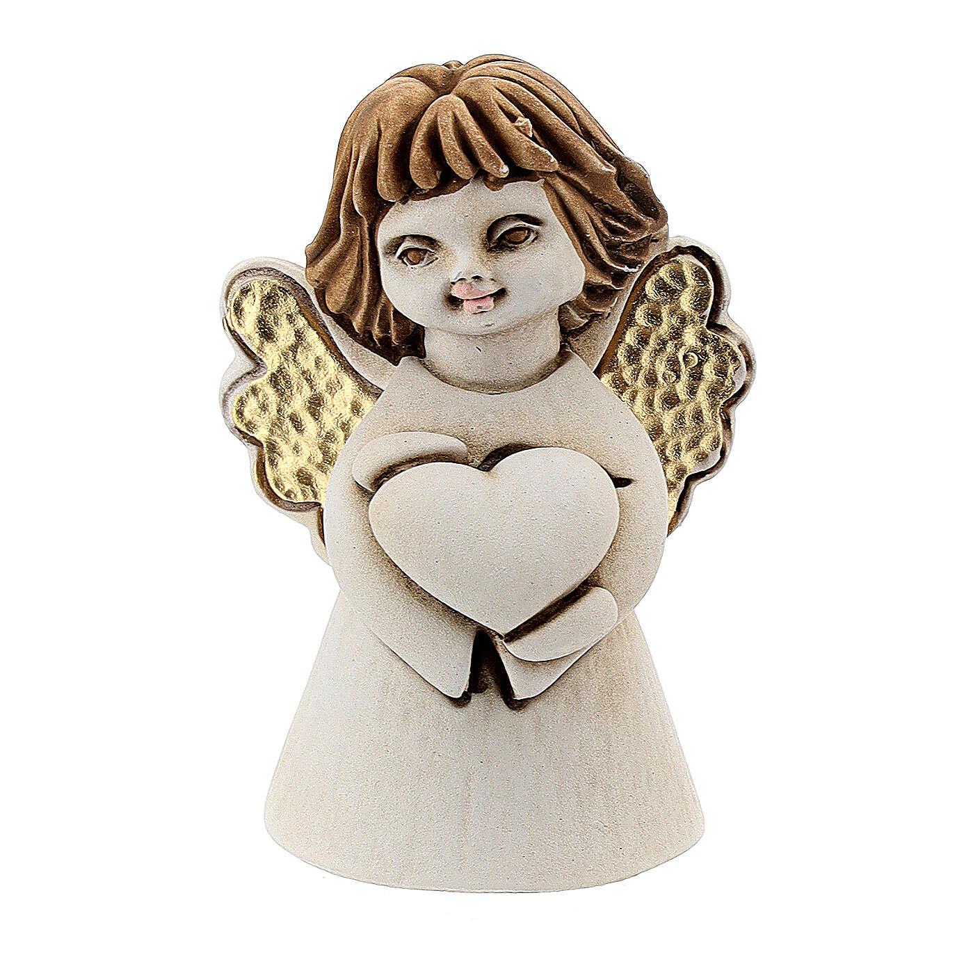 Angelito con corazón 5 cm resina 3