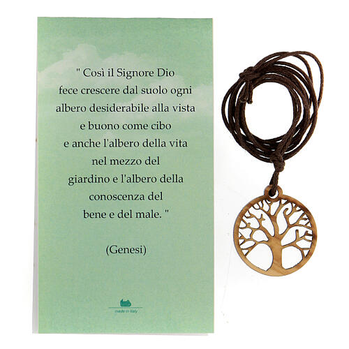 Colgante árbol de la Vida madera de olivo 4