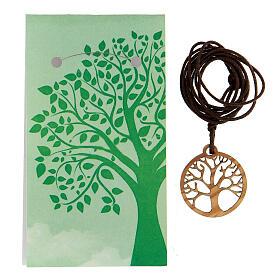Ciondolo albero della Vita legno d'ulivo s3