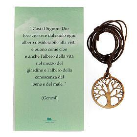 Ciondolo albero della Vita legno d'ulivo s4