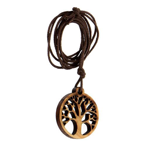 Ciondolo albero della Vita legno d'ulivo 2