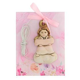 Angelito de colgar moño rosa s1