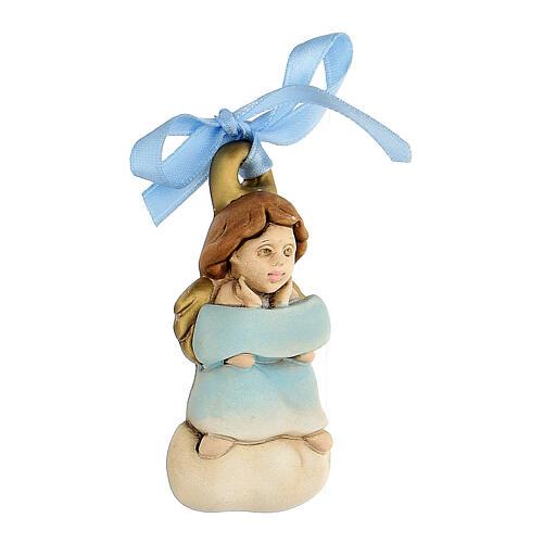 Angelito moño azul de colgar 2