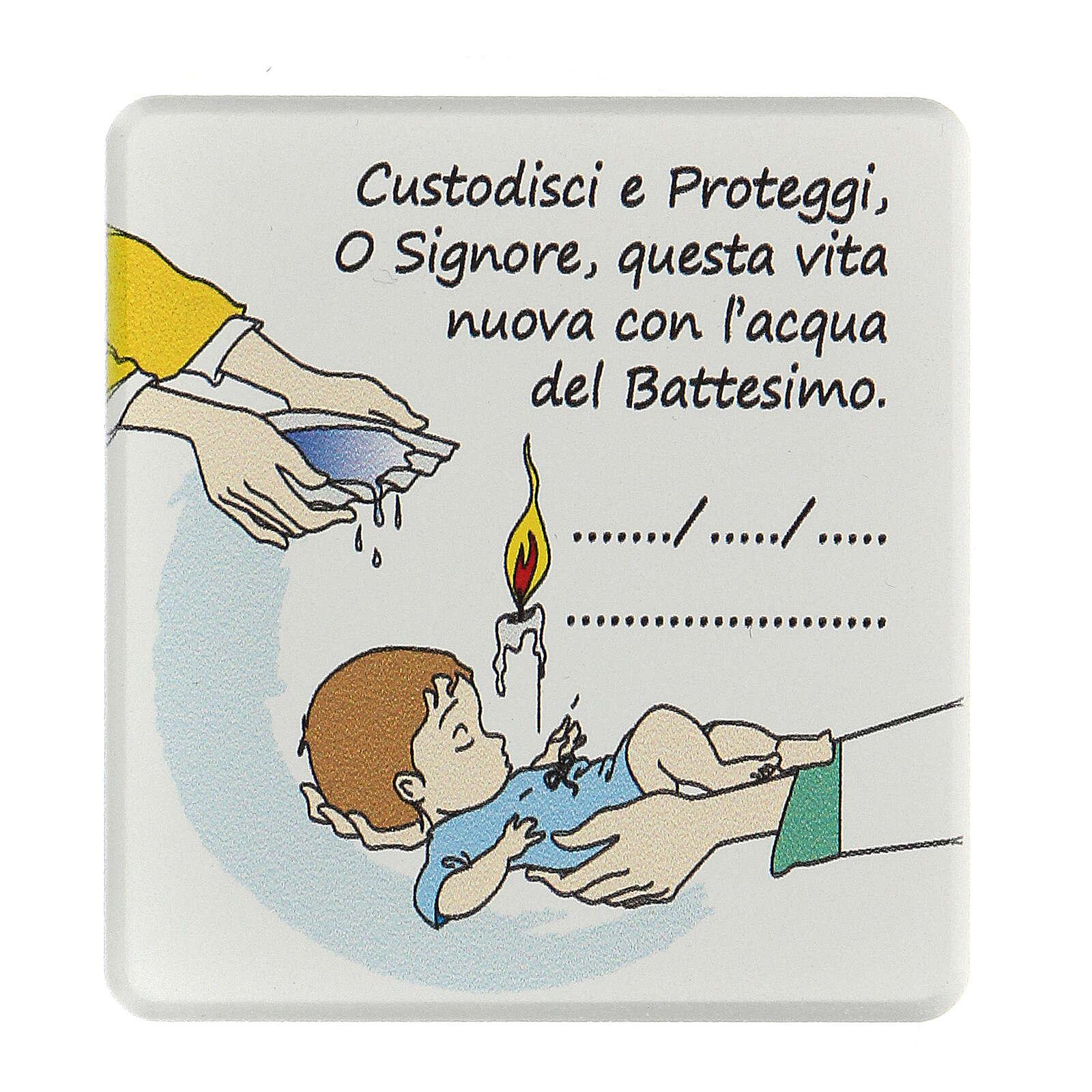Quadretto ricordo Battesimo bimbo  3