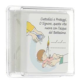 Ricordino Battesimo bambina quadretto s3
