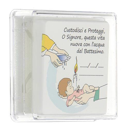 Ricordino Battesimo bambina quadretto 3