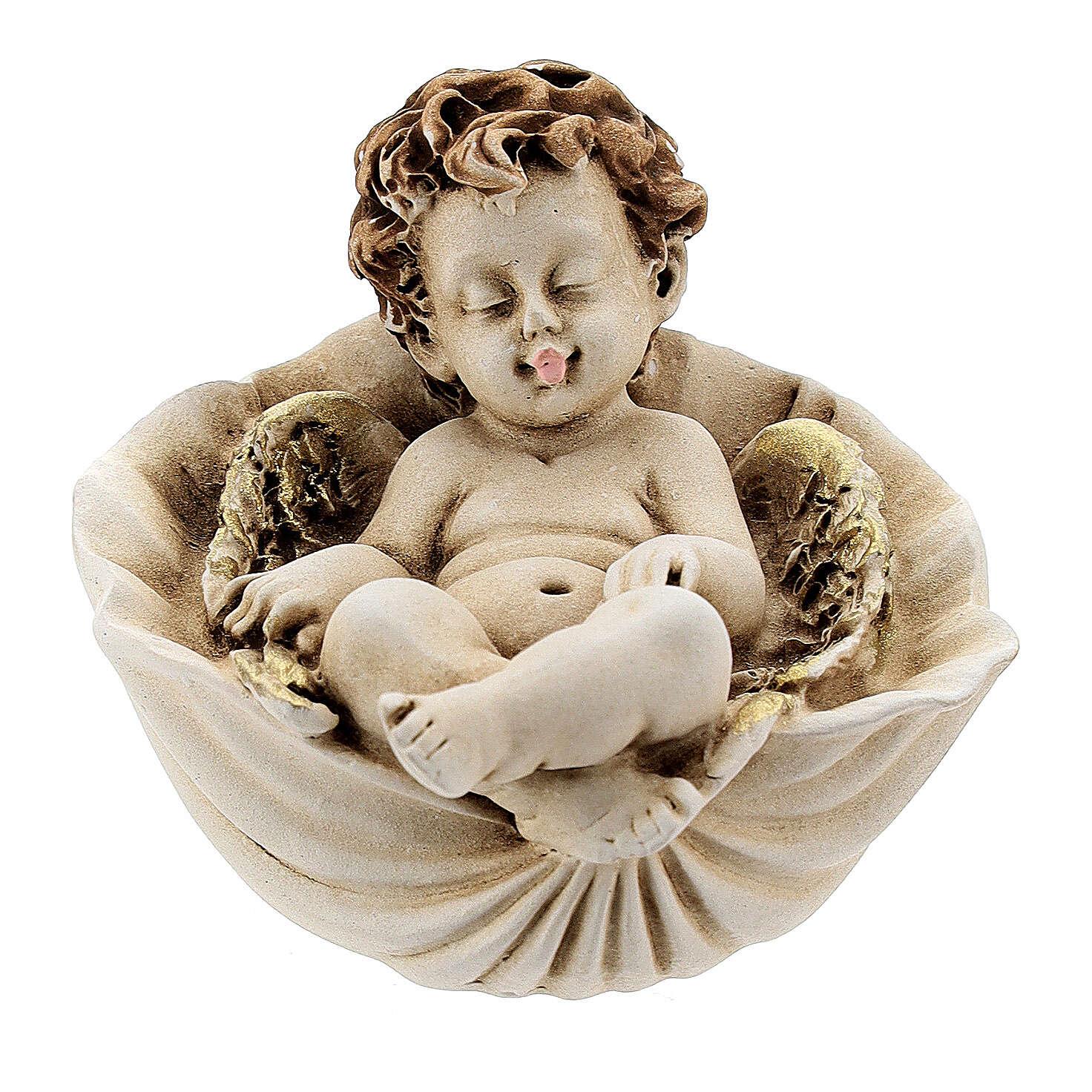 Angelo dormiente su conchiglia mod. assortiti 3