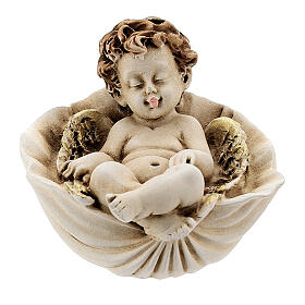 Angelo dormiente su conchiglia mod. assortiti s1