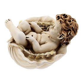 Angelo dormiente su conchiglia mod. assortiti s7