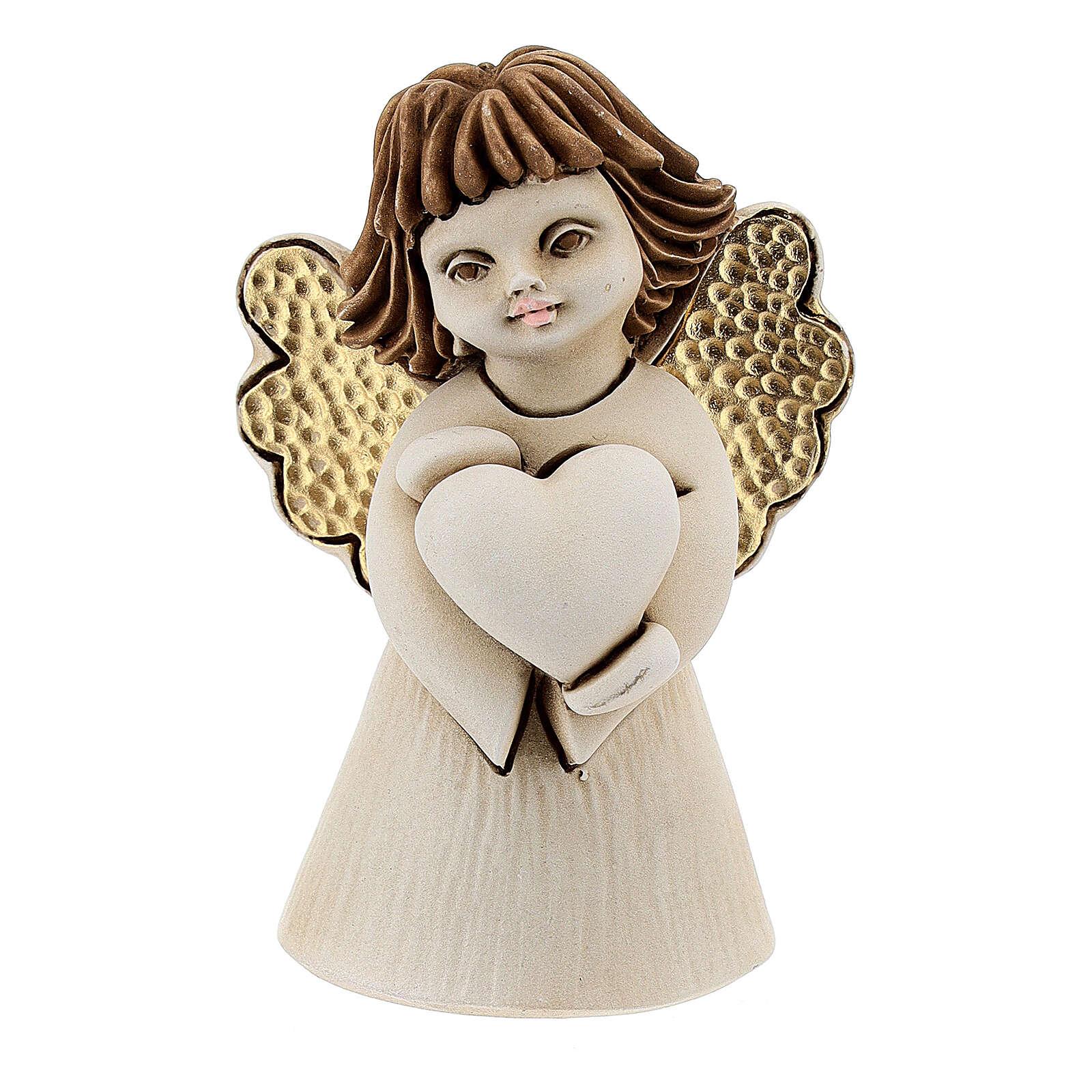 Angelo con cuore resina 10 cm 3