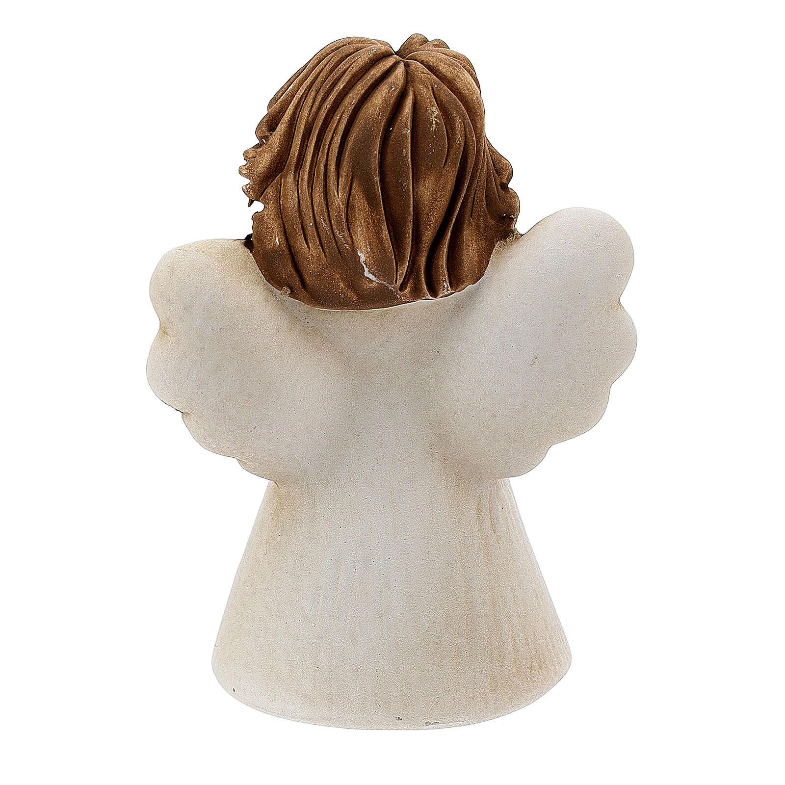 Ángel resina manos juntas 10 cm 3