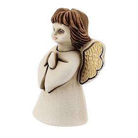 Ángel con flor resina 10 cm s2