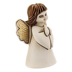 Ángel con flor resina 10 cm s3