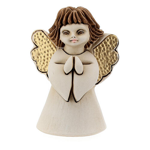 Ángel con flor resina 10 cm 1