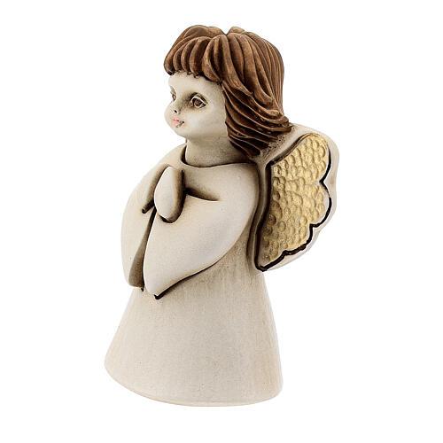 Ángel con flor resina 10 cm 2