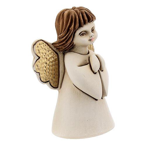 Ángel con flor resina 10 cm 3