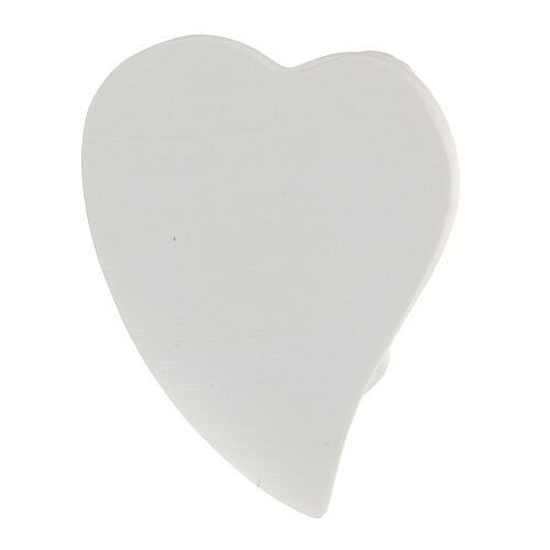 Angioletto resina sdraiato su cuore 3