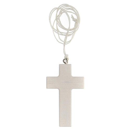 Croce bianca con laccio Comunione 3