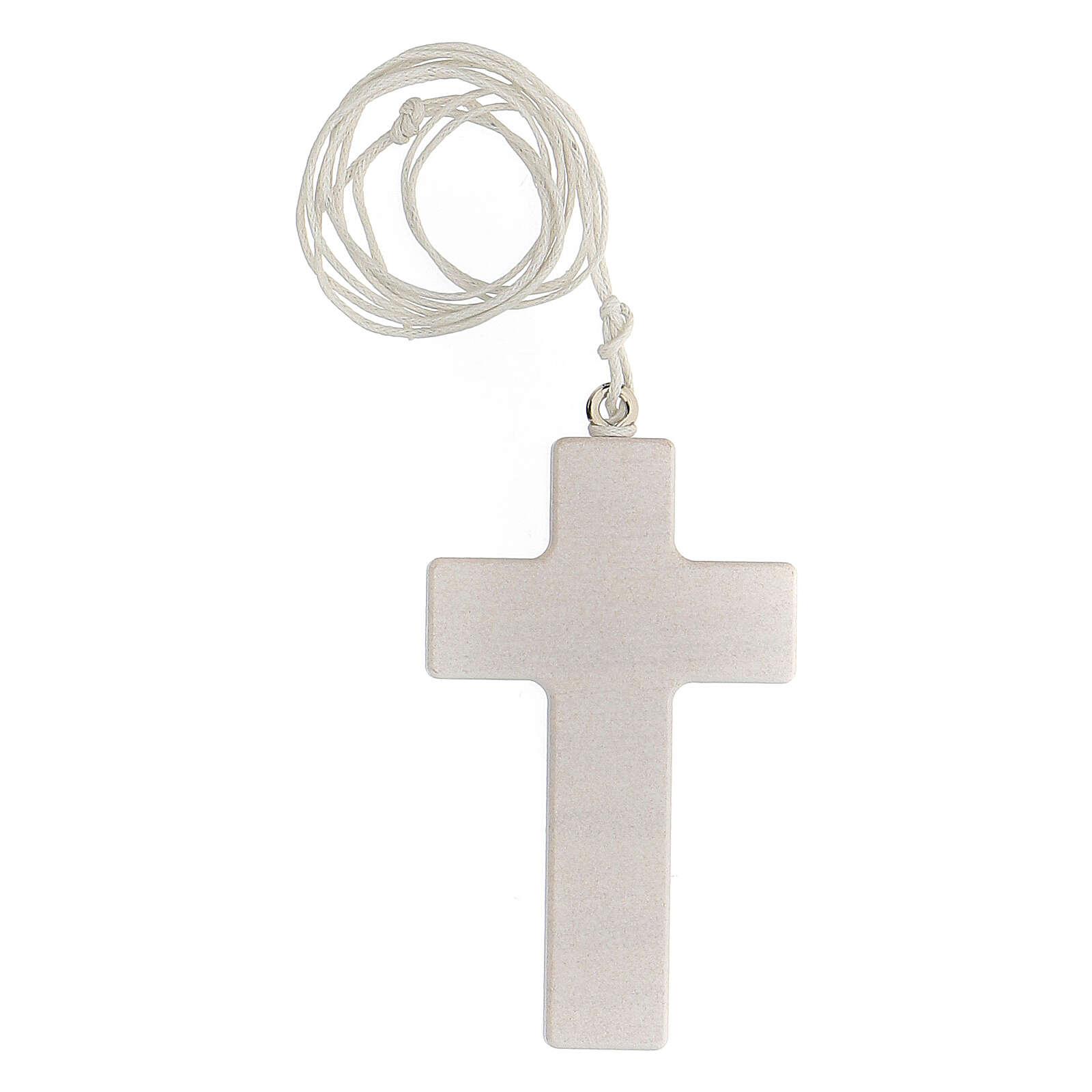 Croix rose et cordon Communion fille 3
