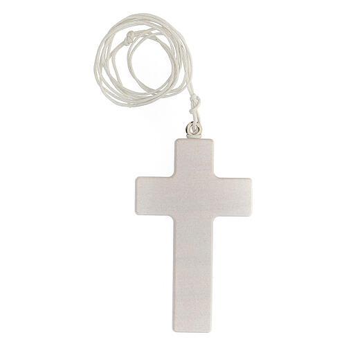 Croce rosa e laccio Comunione bimba 3