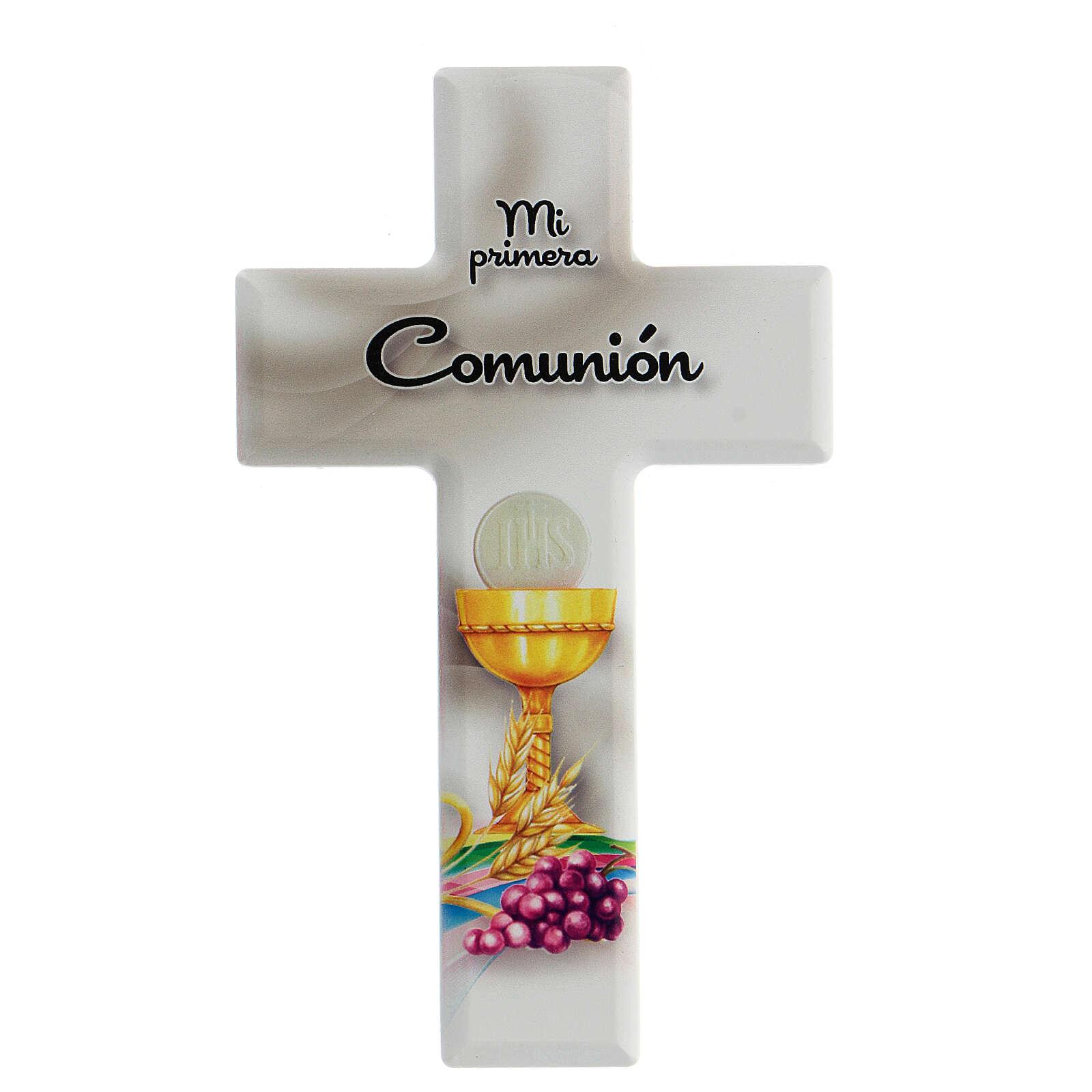 Ricordo Comunione croce bianca spagnolo 3