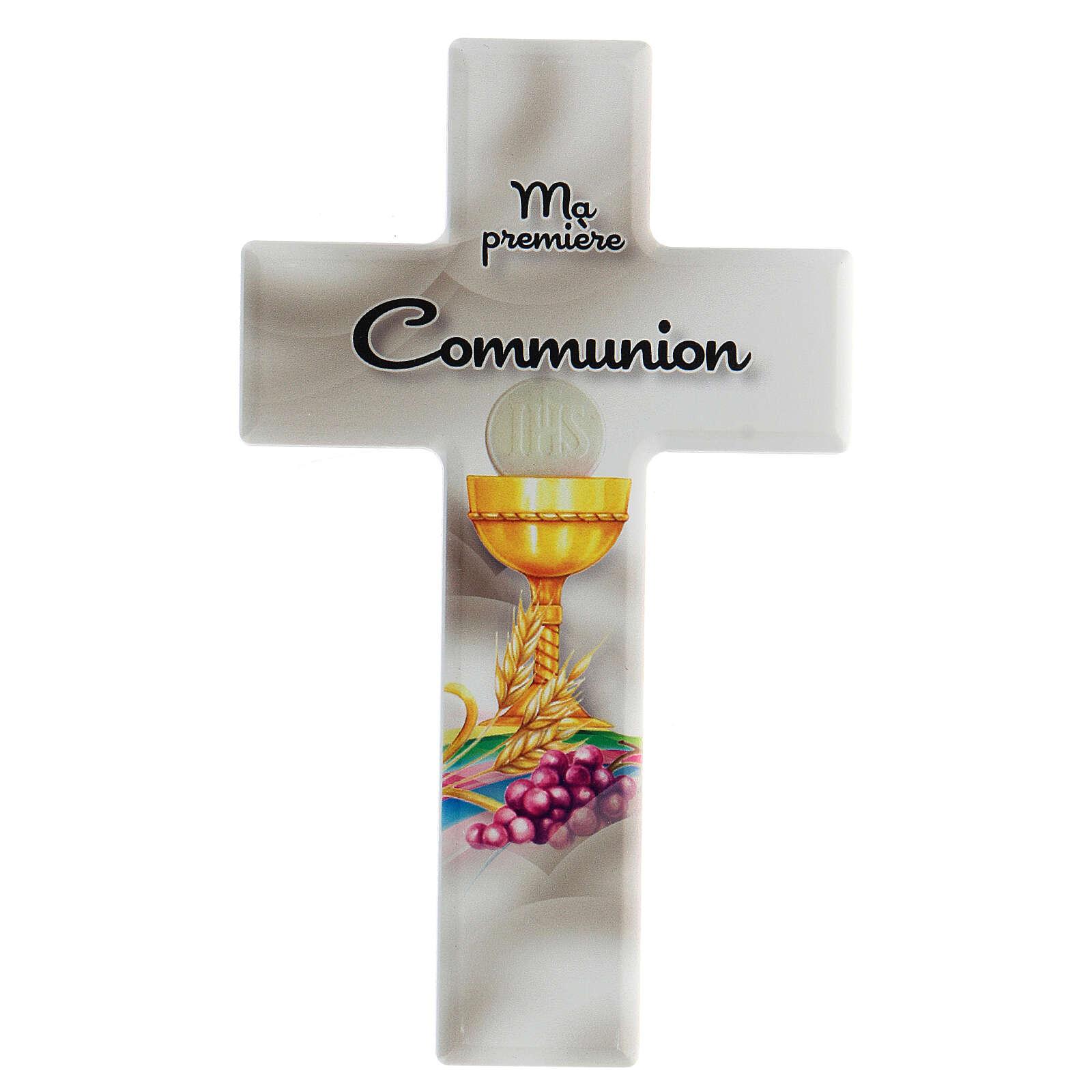 Croce bianca ricordo Comunione francese 3