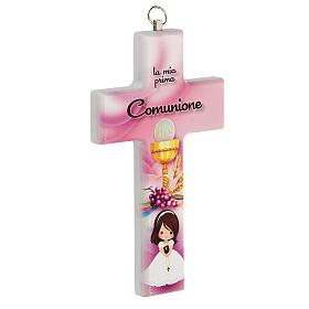 Croce rosa ricordo Comunione bimba s2