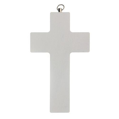Croce rosa ricordo Comunione bimba 3