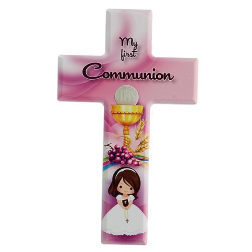 Ricordo Comunione bimba croce inglese 1