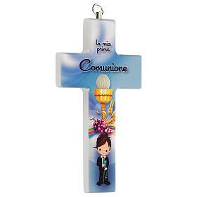 Souvenir Communion garçon croix bleue s2