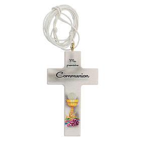 Ricordo Comunione rosario e croce bianca francese s2