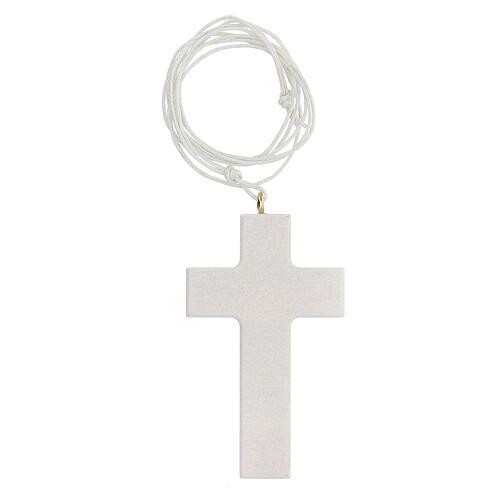 Ricordo Comunione rosario e croce bianca francese 5