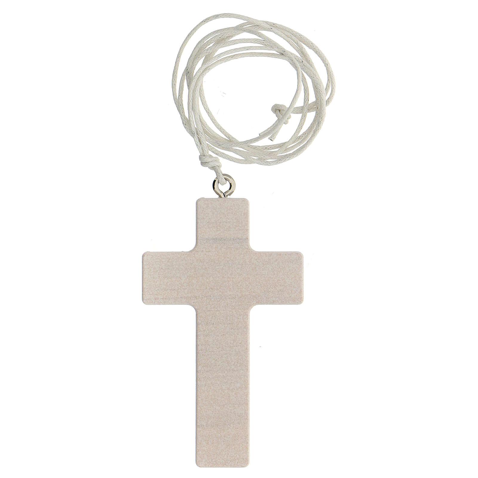 Cofanetto croce e rosario rosa Comunione  3
