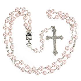 Set ricordo rosa Comunione rosario e croce spagnolo s4