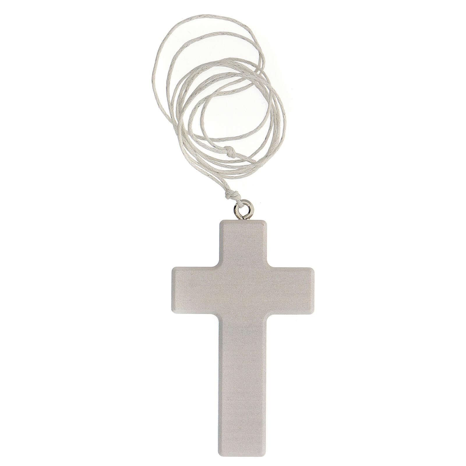 Cofre Comunión cruz y rosario azul 3
