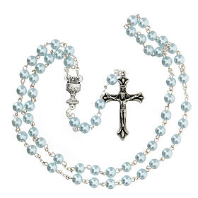 Set souvenir chapelet et croix bleu Communion ANGLAIS s3