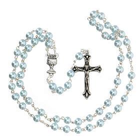Ricordo Comunione croce e rosario azzurro spagnolo s3
