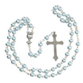 Ricordo Comunione croce e rosario azzurro spagnolo s4