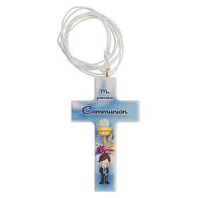Set souvenir chapelet et croix bleu Communion FRANÇAIS s2