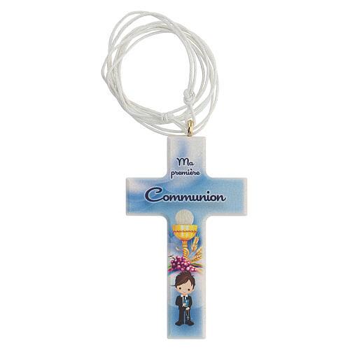 Croce e rosario azzurro Comunione francese 2