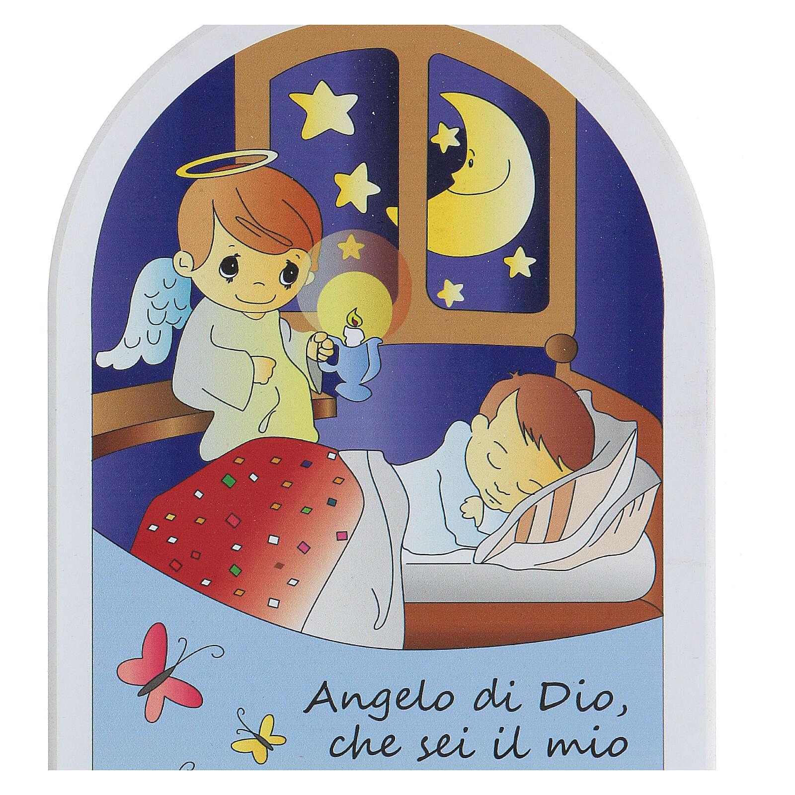 Prayer icon Angel of God teddy bear 3