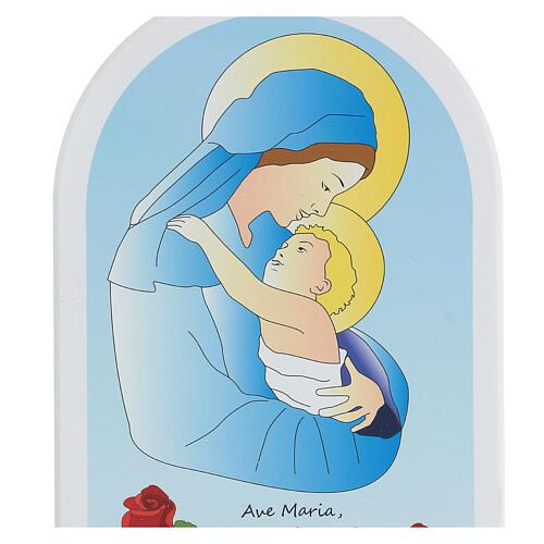 Icono Virgen y niño cartoon 20 cm 2