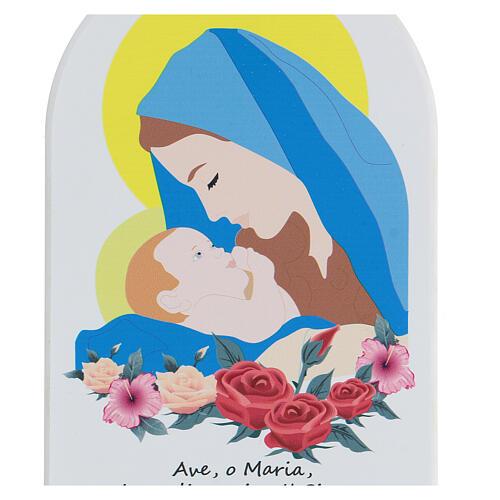 Ave María con oración estilo cartoon 20 cm 2