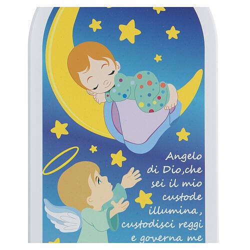 Preghiera Angelo di Dio icona bimbo e luna 2