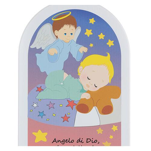 Icona stelline Angelo di Dio 20 cm 2